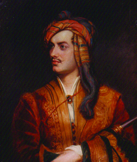 Thomas Phillips, George Gordon, 6th Lord Byron (1788–­1824) in Albanian Dress, 1834, after an original portrait of 1814. Oil on canvas. National Portrait Gallery, London